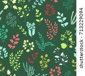 vector flower pattern. colorful ... | Shutterstock .eps vector #713229094