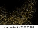 gold glitter texture isolated... | Shutterstock .eps vector #713229184