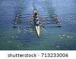 ladies fours rowing team in... | Shutterstock . vector #713233006