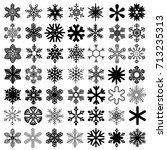 snowflakes set. vector for... | Shutterstock .eps vector #713235313