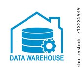 data warehouse icon logo design.... | Shutterstock .eps vector #713235949