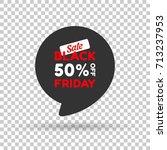 special black friday dark tag.... | Shutterstock .eps vector #713237953