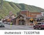 jackson hole  wy   aug 11 ... | Shutterstock . vector #713239768
