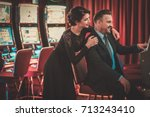 coulenear slots machines in a... | Shutterstock . vector #713243410