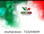 mexico flag color background... | Shutterstock .eps vector #713244049