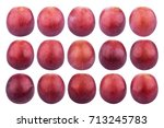 single grape isolated on white... | Shutterstock . vector #713245783
