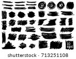 collection of vector grunge... | Shutterstock .eps vector #713251108