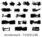collection of vector grunge... | Shutterstock .eps vector #713251138