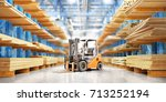 warehouse with variety of... | Shutterstock . vector #713252194