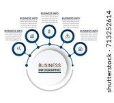 ultra modern infographic... | Shutterstock .eps vector #713252614