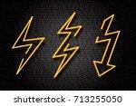 vector realistic isolated neon... | Shutterstock .eps vector #713255050