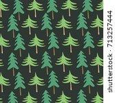 christmas seamless pattern.... | Shutterstock .eps vector #713257444