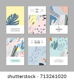 set of creative universal art... | Shutterstock .eps vector #713261020