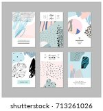 set of creative universal art... | Shutterstock .eps vector #713261026