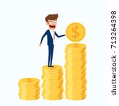 investment and saving concept.... | Shutterstock .eps vector #713264398