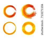 set of colorful circular  round ... | Shutterstock .eps vector #713271106