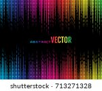 abstract vector glowing... | Shutterstock .eps vector #713271328