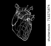 human heart  vector many... | Shutterstock .eps vector #713271874