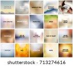 big set of 20 square blurred...   Shutterstock .eps vector #713274616