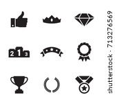 awards icons set | Shutterstock .eps vector #713276569