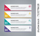 business infographic elements | Shutterstock .eps vector #713278618
