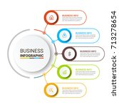 business infographic elements | Shutterstock .eps vector #713278654