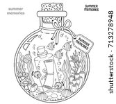 vector coloring book for adults.... | Shutterstock .eps vector #713278948
