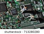 computer espionage | Shutterstock . vector #713280280