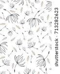 dandelion fluff   Shutterstock .eps vector #713282623