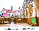 gateway to the christmas market ...   Shutterstock . vector #713291110