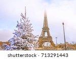 eiffel tower is the main... | Shutterstock . vector #713291443