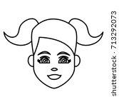 young woman cartoon   Shutterstock .eps vector #713292073