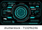 hud interface futuristic....   Shutterstock .eps vector #713296246