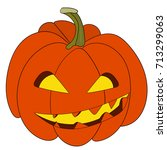 clip art of a pumpkin. halloween | Shutterstock .eps vector #713299063