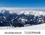 view of alps in zillertal... | Shutterstock . vector #713299648