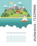 blank for text. spring  summer...   Shutterstock .eps vector #713299840