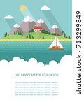 blank for text. spring  summer... | Shutterstock .eps vector #713299849