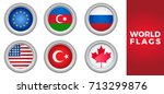 set of world european flags... | Shutterstock .eps vector #713299876