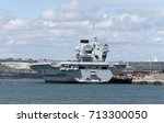 portsmouth england uk.royal... | Shutterstock . vector #713300050