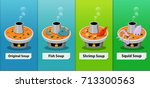 set of traditional spicy thai... | Shutterstock .eps vector #713300563