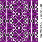pattern ornament for embroidery ... | Shutterstock .eps vector #713301850