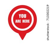 marker location icon with you...   Shutterstock .eps vector #713302219
