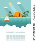 form  template for text. summer ... | Shutterstock .eps vector #713305318