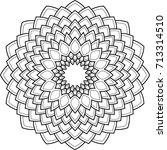 beautiful mandala pattern.... | Shutterstock .eps vector #713314510