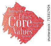 vector conceptual core values... | Shutterstock .eps vector #713317924
