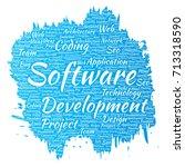 vector conceptual software... | Shutterstock .eps vector #713318590