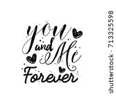 valentine's day calligraphy. | Shutterstock .eps vector #713325598