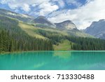 emerald lake | Shutterstock . vector #713330488