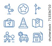 transport icon set | Shutterstock .eps vector #713336710