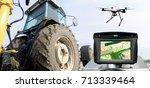 smart agriculture   farm  ... | Shutterstock . vector #713339464